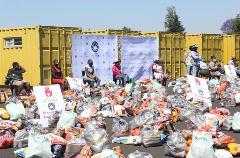 AECI food parcel donation