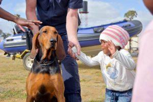 Community policing dog handler
